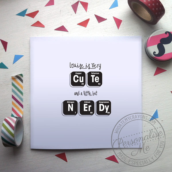 Cute and a little bit nerdy valentine's day card