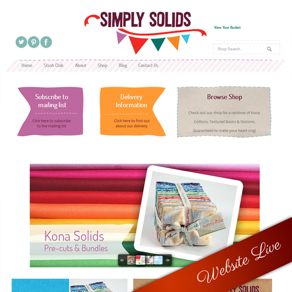 Simply Solids Website